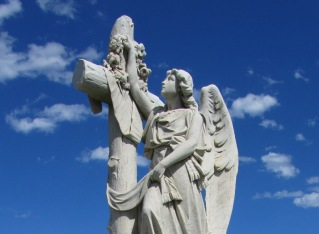 Ornamentation atop the Croll-Stevenson grave at Waverly Cemetery