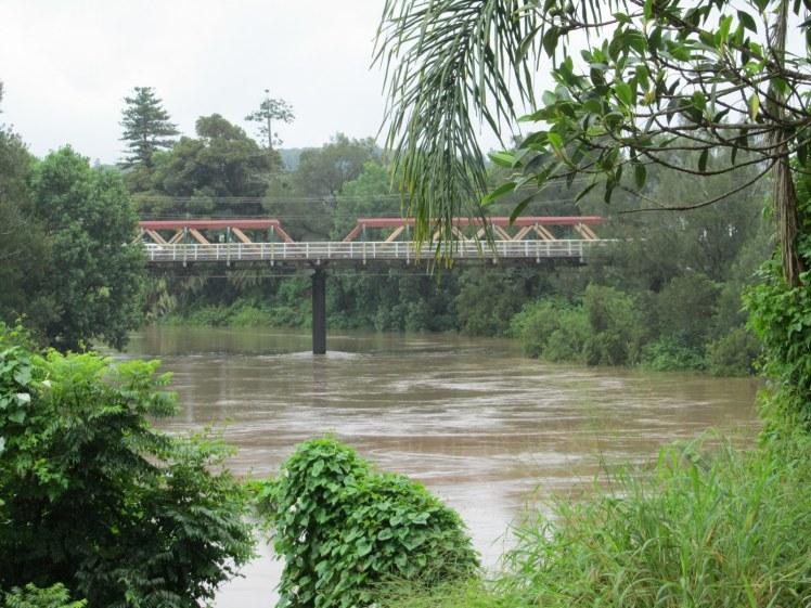 The Double Bridge in Lismore - minor flooding
