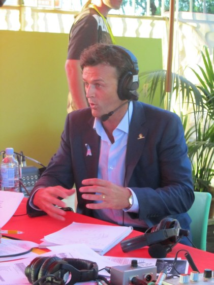 Adam Gilchrist is interviewed by ABC Local Radio