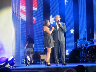 Myf Warhurst and Todd McKenney (keeping his pants on)
