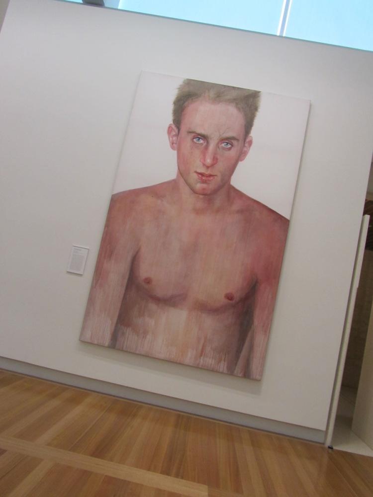Simon Tedeschi portrait at National Portrait Gallery