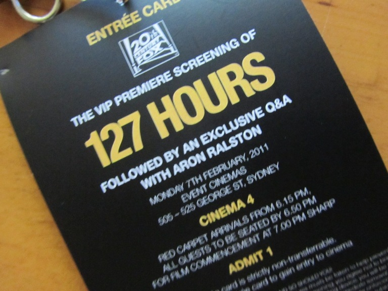 Opening night for 127 Hours in Sydney