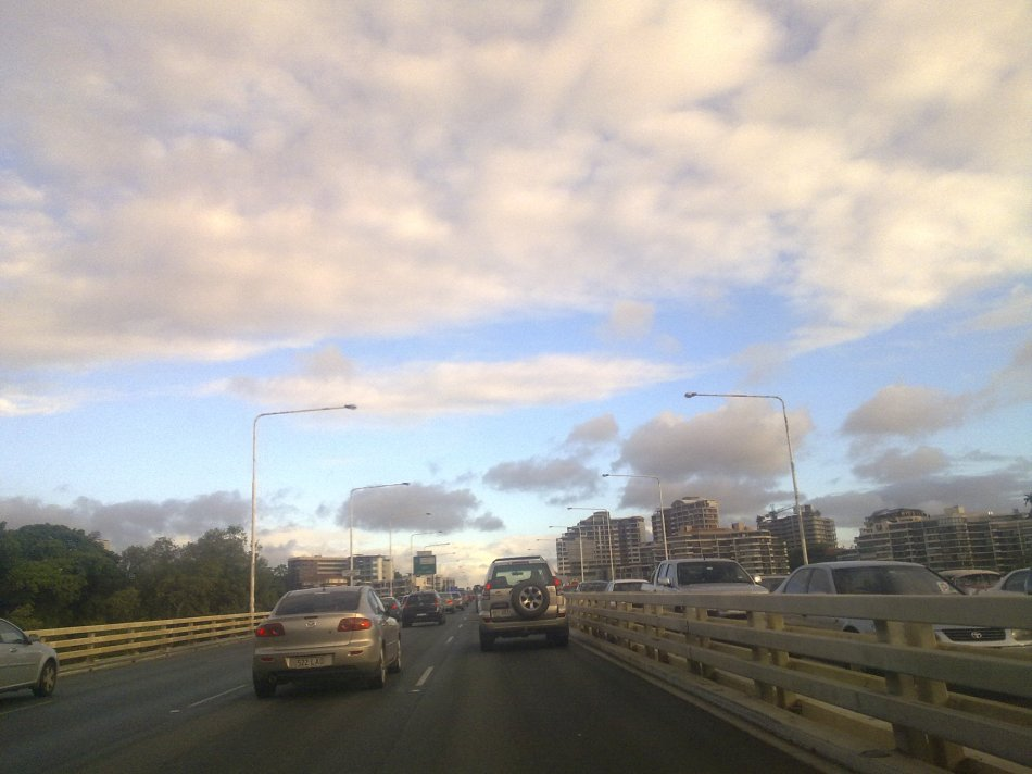 On the freeway in Brisbane