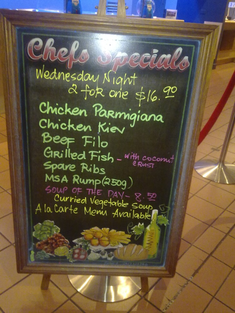 Wednesday night specials at the club