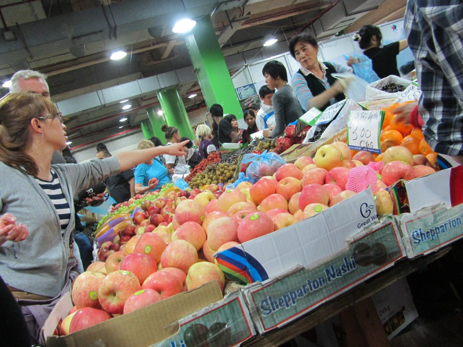 Fresh fruit and veg at Paddy's Markets