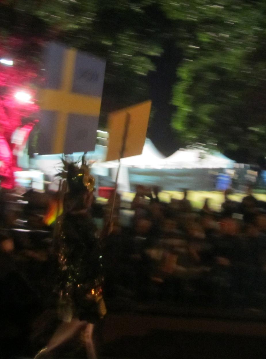 Swedish flag in Sydney Mardi Gras