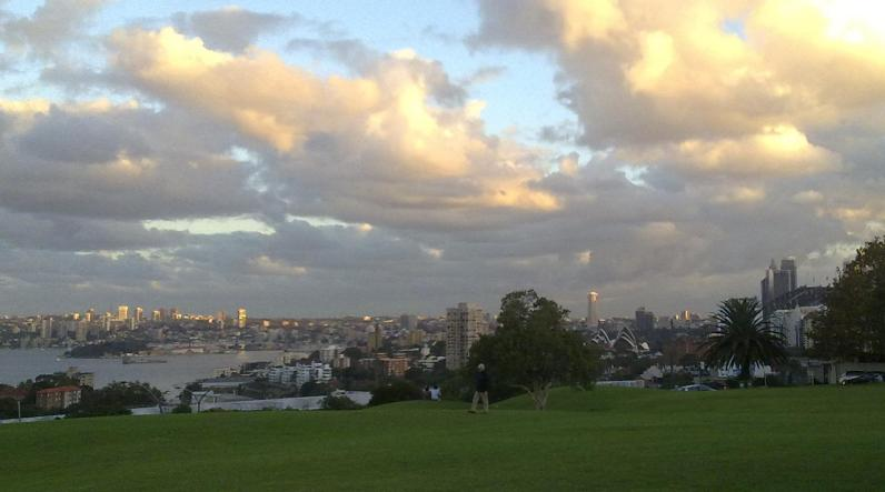 The view from North Sydney Bowling Club
