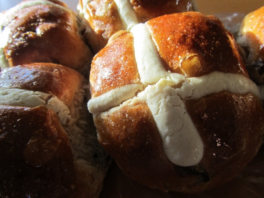 Hot Cross Buns from the Surry Hills Bakery opp The Mall