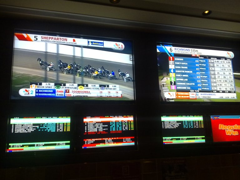 Horse racing at the Strawberry Hills Hotel