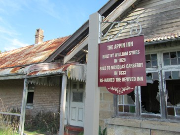 The Appin Inn, later renamed the Union Revived and licensed for a while by one of my ancestors, William Rixon