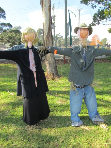 Scarecrow Competition at Celebrations for the 200th Anniversary of Appin - Mel & Kochie
