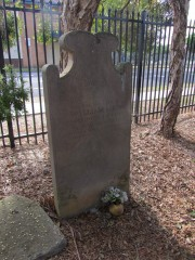 William Rixon grave at St Peters Anglican Church Cordeaux St, Campbelltown