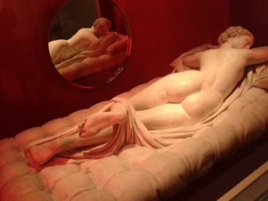Hermaphrodite statue at National Museum in Stockholm