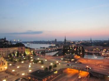 Katarinahissen view over Stockholm 10.30pm