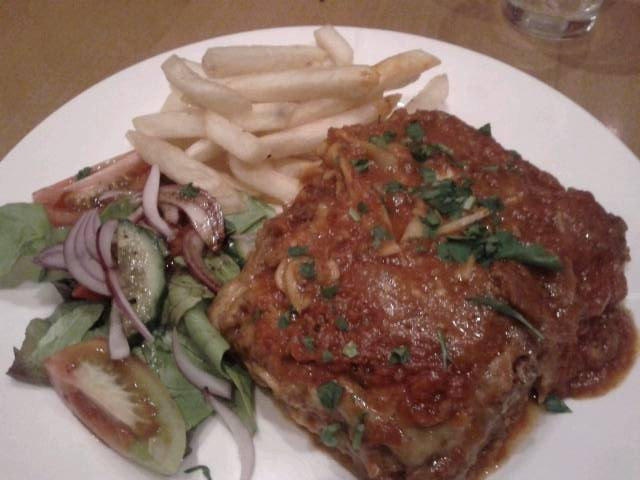 Lasagne at the Lewisham Hotel