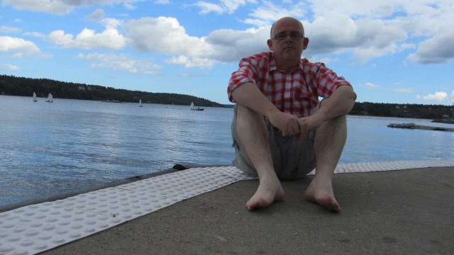 Enjoying the sunshine at Saltsjöbaden