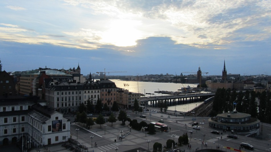 The view from Katarinahissen in Stockholm