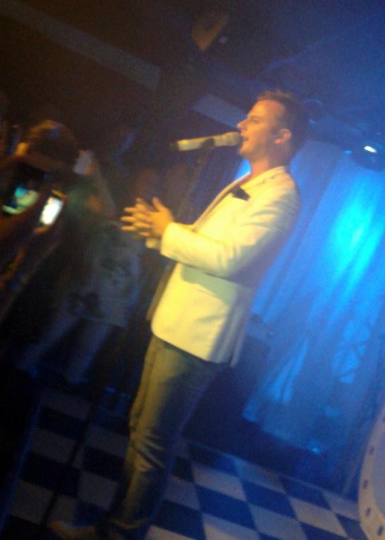Magnus Carlsson on stage at Golden Times in Stockholm