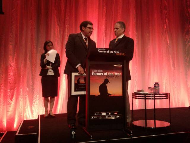 Robert Ruwoldt of Horsham, Victoria, is named Australian Farmer of the Year.