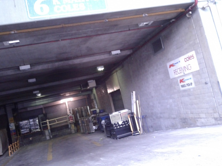 Loading dock at Coles Toowong in Brisbane