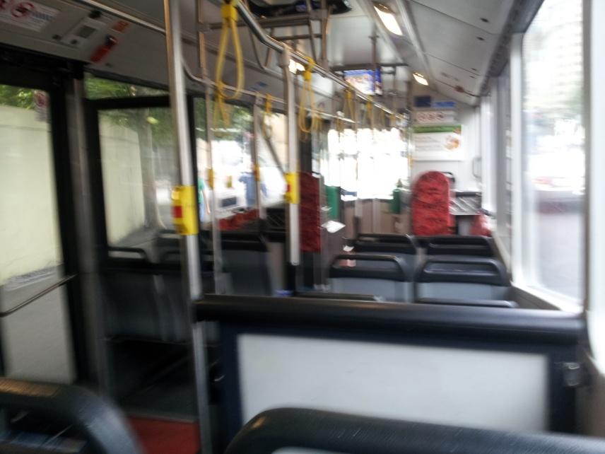 Empty 372 Bus in Sydney