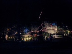Christmas lights in the middle of nowhere on the road back in to Lismore