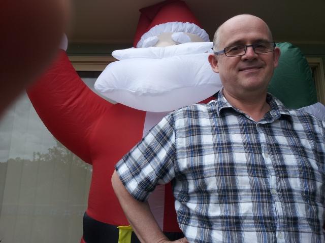 A big fat jolly fellow and Santa