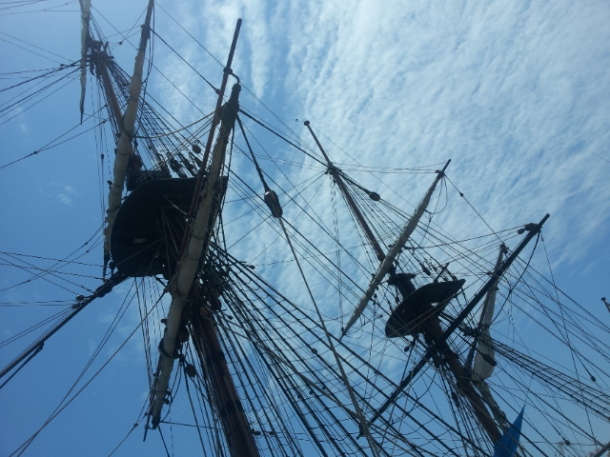 A replica of the Endeavour is circumnavigating Australian in 2011-2012