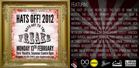 Flyer for Hats Off 2012