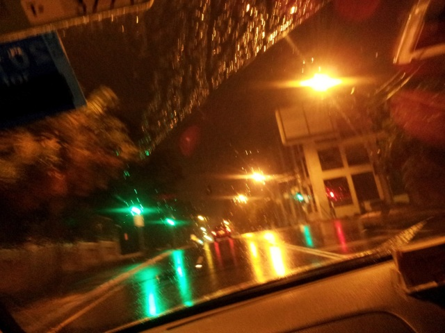 Heading home in a taxi on Cleveland Street, Surry Hills
