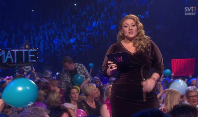 Sarah Dawn Finer in the midst of Melodifestivalen