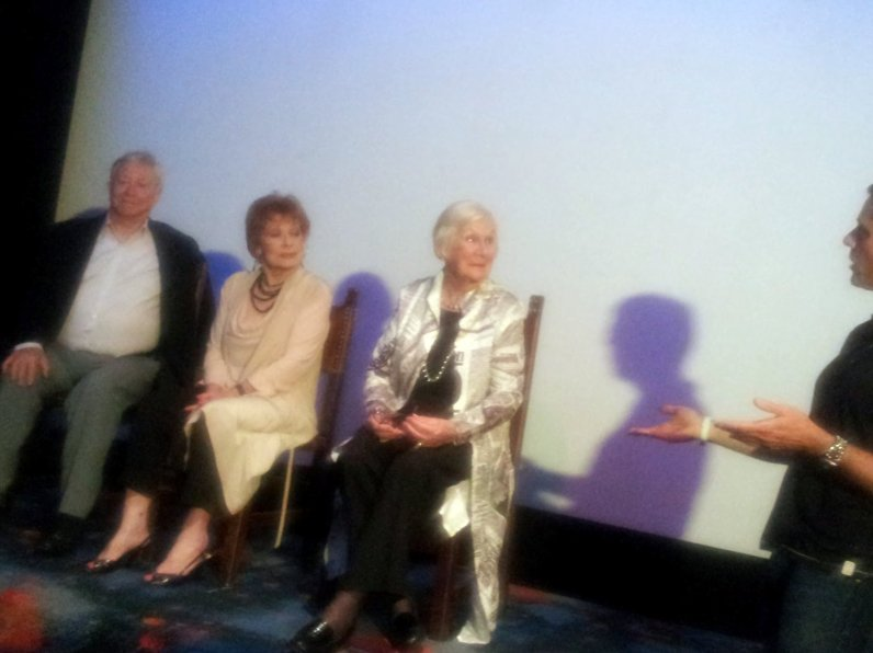 Interviewed by Andrew Mercado are David Sale, Elaine Lee and Elisabeth Kirkby at tonight's fortieth anniversary screening of Number 96