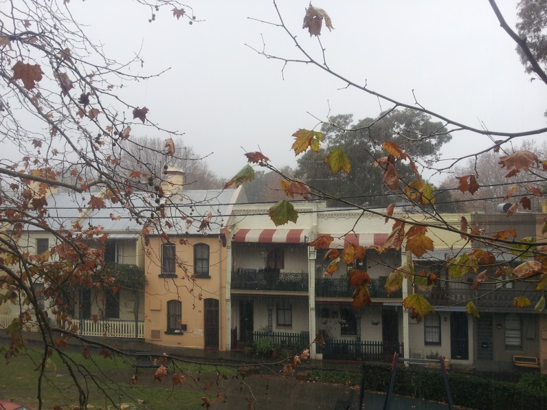Rainy morning in Surry Hills