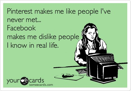 Facebook and Pinterest