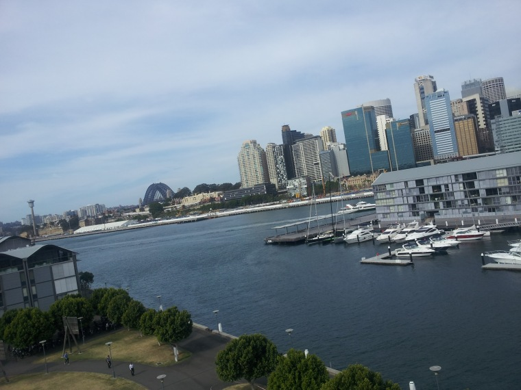 View from the sixth floor of Google HQ in Sydney