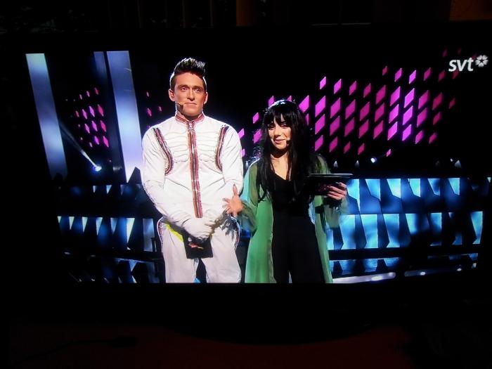 Danny and Gina on Melodifestivalen