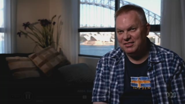 Graeme Read interviewed for the Australian TV special, Bang A Boomerang.
