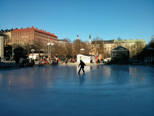 Ice skating at Medborgarplatsen