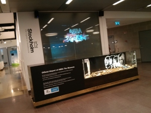 ABBA Museum display at Stockholm Airport