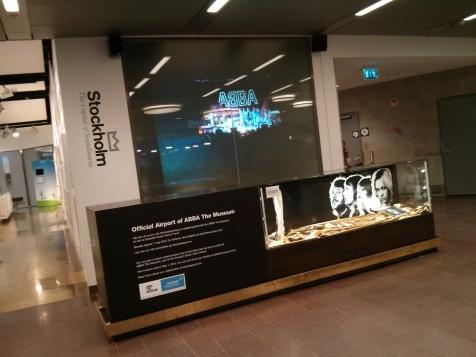ABBA Museum display at Stockholm Airport