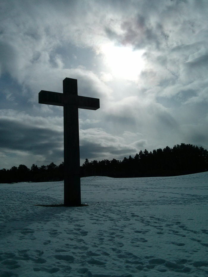 The amazing world heritage listed woodland cemetery in Stockholm looks even more amazing when covered in snow