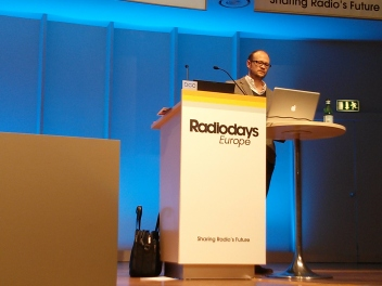 Ross Adams from Spotify at Radio Days Europe 2013