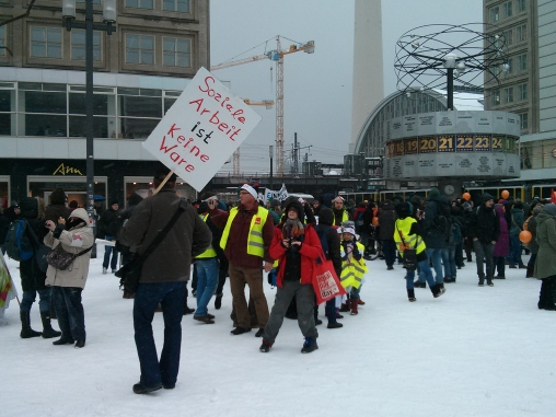 Workers protest in Berlin