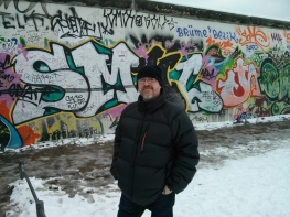 Standing in front of East Side Gallery - Berlin Wall