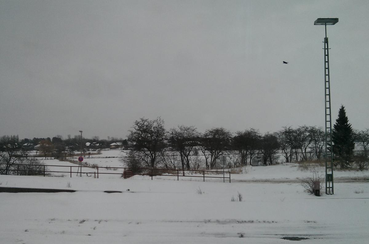 View from the train between Berlin and Copenhagen