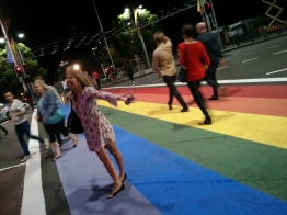 Rainbow Footpath on Sydney's Oxford Street