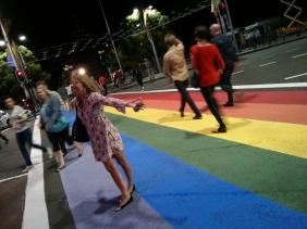 Rainbow Footpath on Sydney's Oxford Street