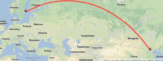 Beijing To Stockholm