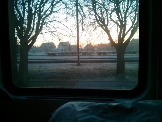 The early morning view from my sleeper.