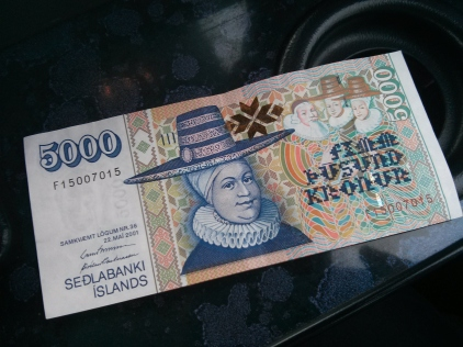 5000 ISK Note